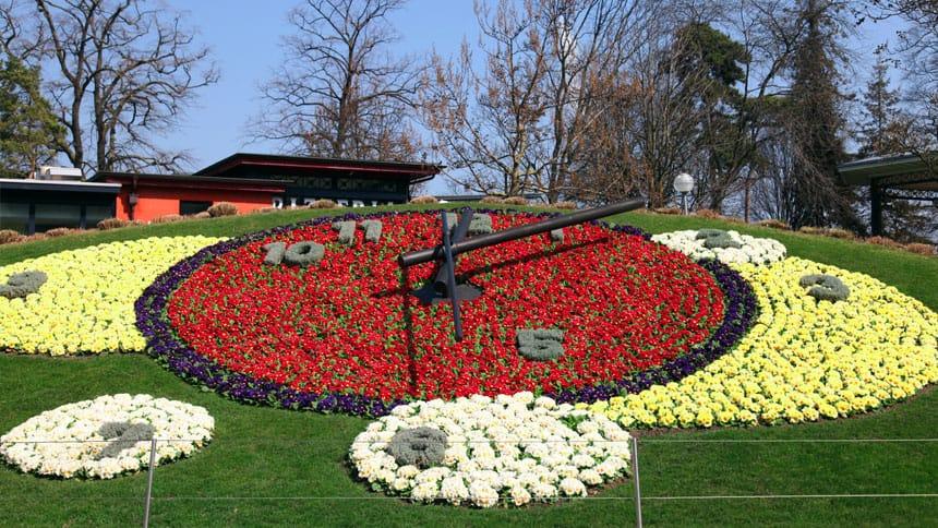 Le jardin anglais et l 39 horloge fleurie gen ve for Image de jardin anglais